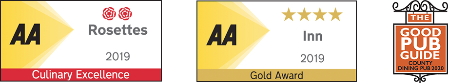 AA Culinary Excellence (2019) & AA Gold Rated Inn (2019)